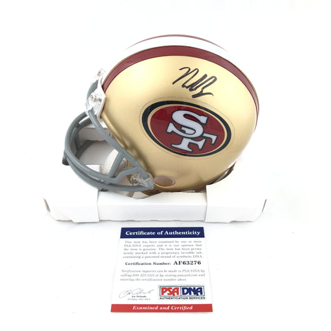 Nick Bosa Signed Mini Helmet PSA/DNA San Francisco 49ers Autographed
