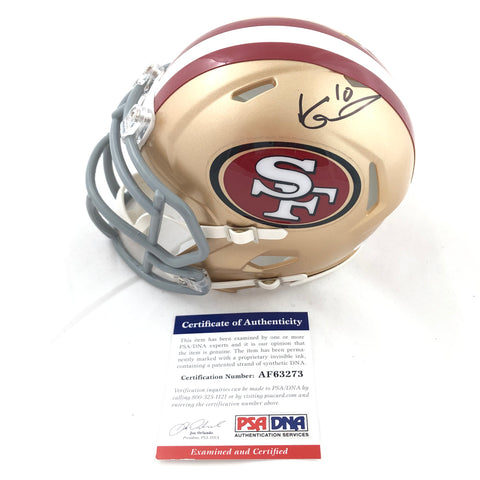 Jimmy Garoppolo Signed Mini Helmet PSA/DNA San Francisco 49ers Autographed