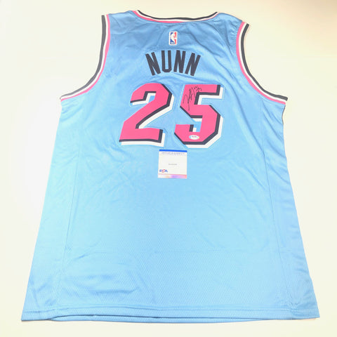 Kendrick Nunn signed jersey PSA/DNA Miami Heat Autographed Blue