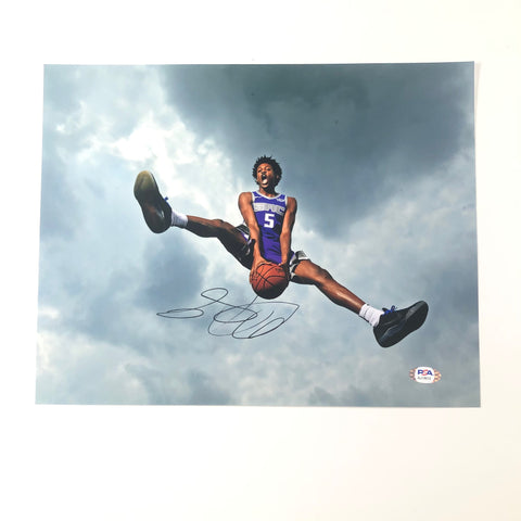De'Aaron Fox Signed 11x14 photo PSA/DNA Sacramento Kings Autographed