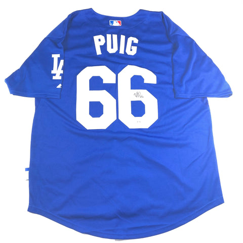 Yasiel Puig Signed Jersey PSA/DNA Los Angeles Dodgers Autographed