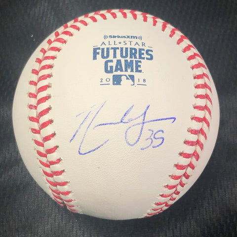 Nate Lowe signed 2018 Futures Game baseball PSA/DNA Tampa Bay Rays autographed