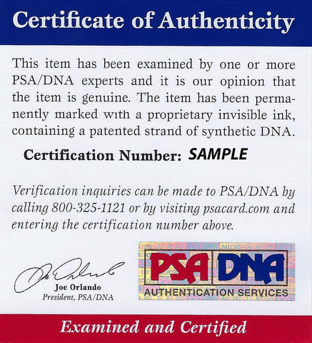 PSA/DNA Authentication Submission - $30 fee