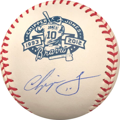 Chipper Jones Signed Baseball PSA/DNA Atlanta Braves Autographed Logo Retirement