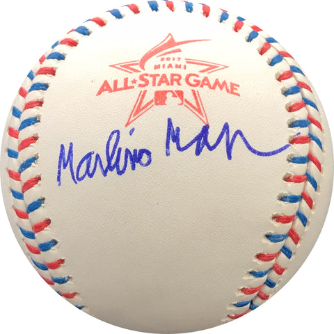 Marlins Man Laurence Leavy Signed 2017 ASG Baseball PSA/DNA Autographed