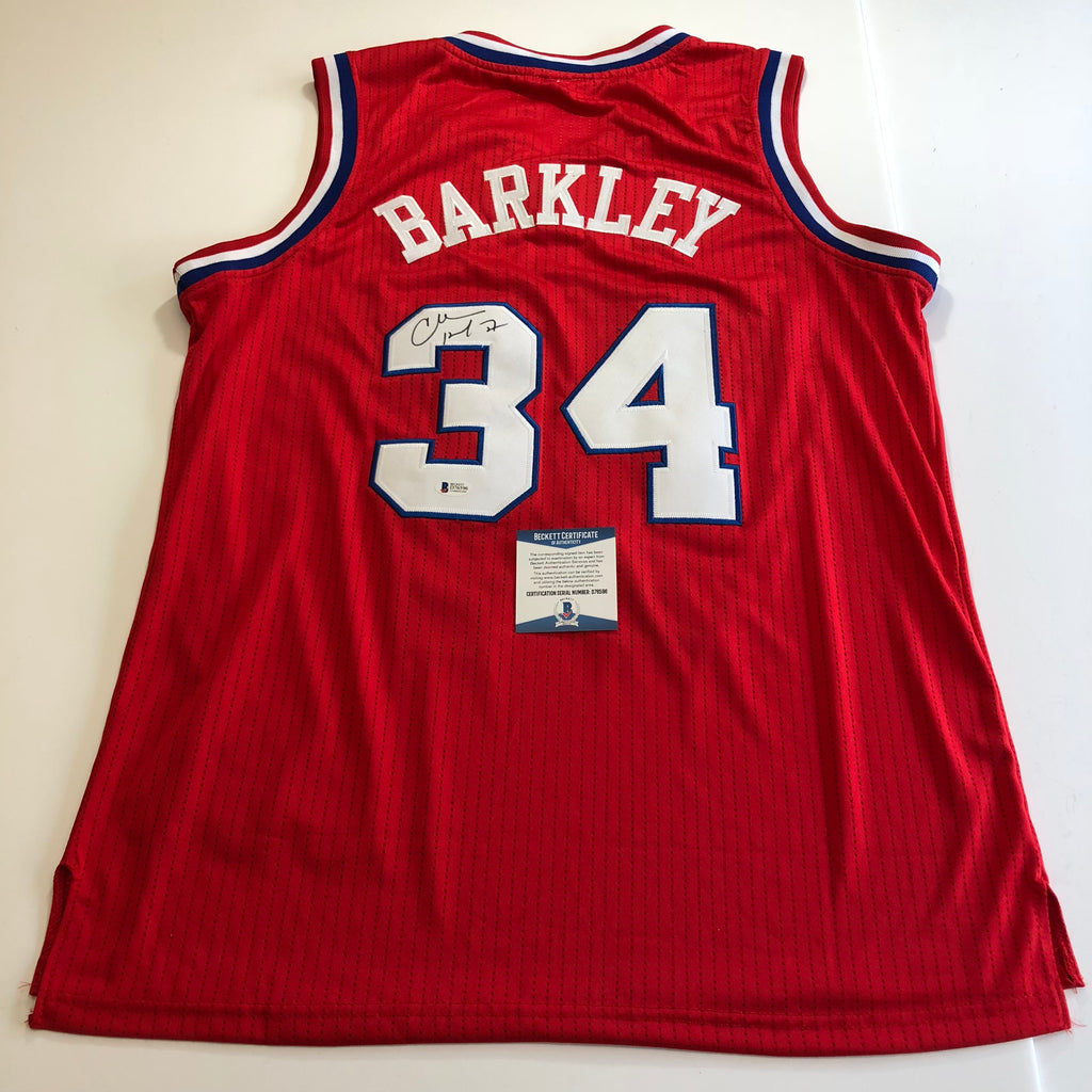 09bc79daf624 Charles Barkley signed jersey BAS Beckett Philadelphia 76ers Autographed  Sixers