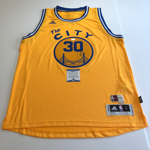 Stephen Curry signed jersey BAS Beckett Golden State Warriors Autographed