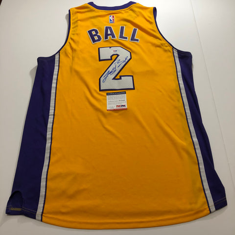 Lonzo Ball signed jersey PSA/DNA Los Angeles Lakers Autographed