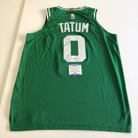 Jayson Tatum signed jersey BAS Beckett Boston Celtics Autographed Green