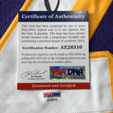 Magic Johnson signed jersey PSA/DNA Los Angeles Lakers Autographed