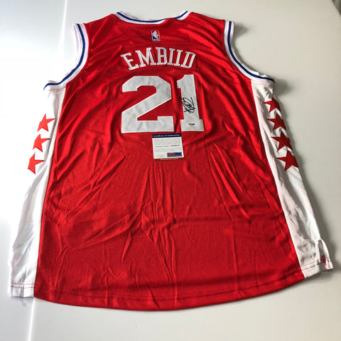 Joel Embiid signed jersey PSA/DNA Philidelphia 76ers Autographed Sixers