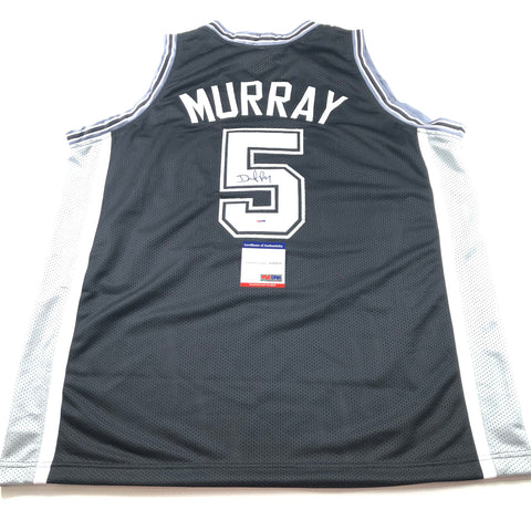 DeJounte Murray Signed Jersey PSA/DNA San Antonio Spurs Autographed