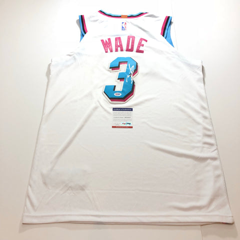 Dwyane Wade signed Miami Vice jersey PSA/DNA Heat Autographed Nights