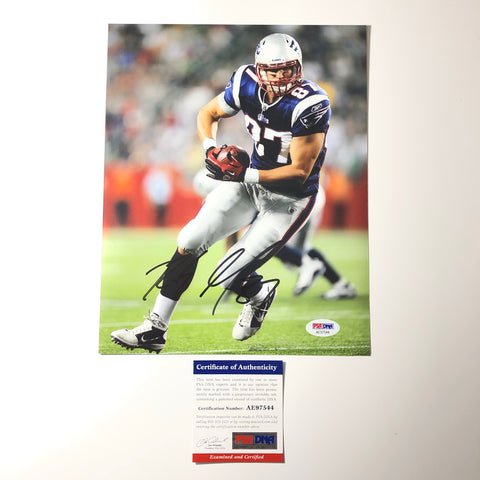 Rob Gronkowski signed 8x10 photo PSA/DNA New England Patriots Autographed