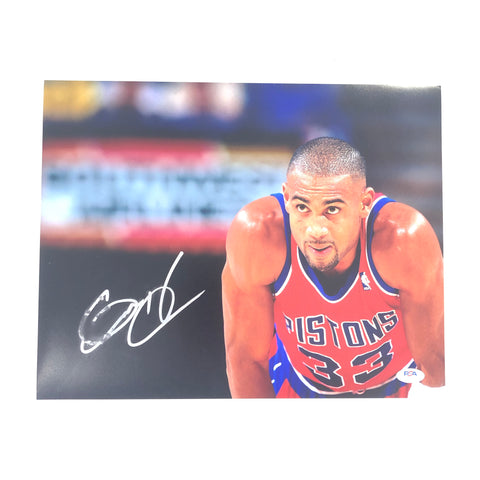 Grant Hill Signed 11x14 Photo PSA/DNA Detroit Pistons Autographed