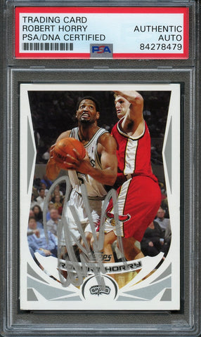 2004 NBA Topps #24 Robert Horry Signed Card AUTO PSA Slabbed