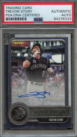 2019 Topps Certified Trevor Story Signed Card PSA Slabbed Auto 73/299