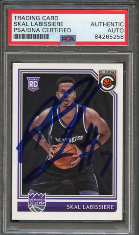 2016 Panini Complete #153 Skal Labissiere Signed Card AUTO PSA Slabbed RC