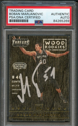 2015 Panini Threads #246 Boban Marjanovic Signed Card AUTO PSA Slabbed