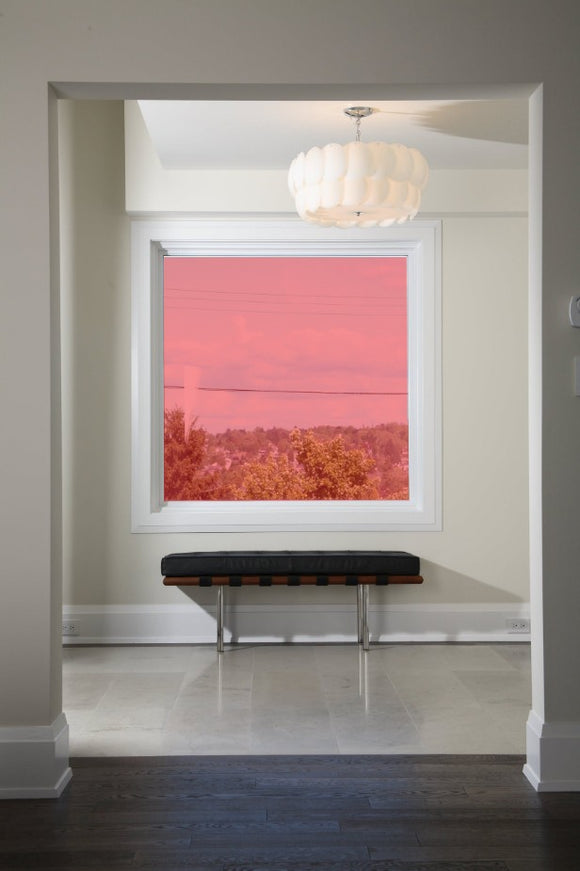Red 34 Transparent Colourful Window Film Optically Clear Tint