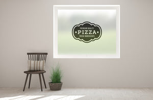 TR5 - Pizza shop sign printed bespoke custom frosted window film