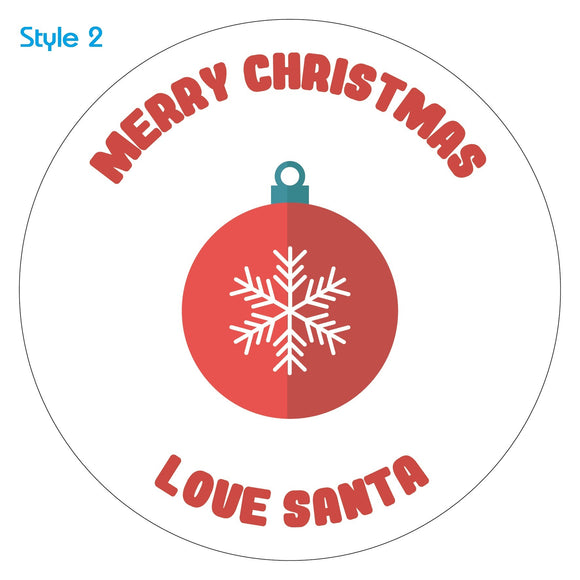 Personalised Custom Baubles Christmas Sticker Label x30