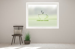 C2 - Customisable coffee cup cut out bespoke custom frosted commercial cafe window film