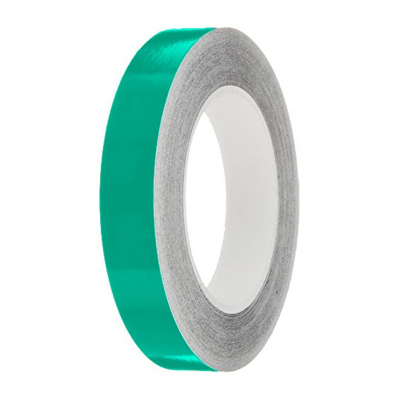 Turquoise Gloss Colour Pin Stripe tapes, 50m roll, sticky self-adhesive, vinyl decal line tape