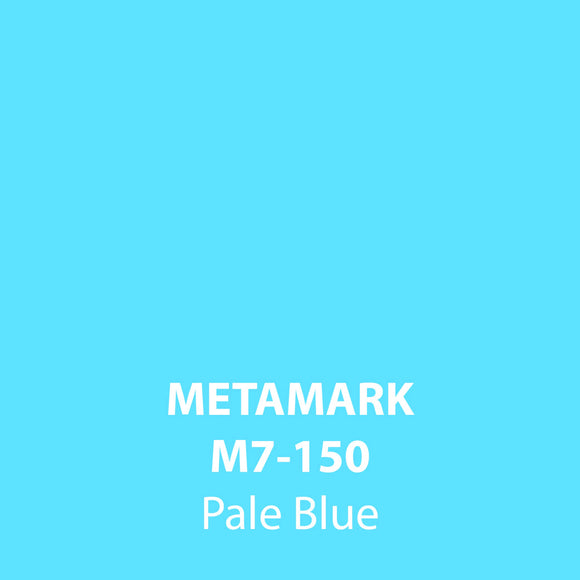 Pale Blue Gloss Vinyl M7-150, Metamark 7 Series, self-adhesive, sticky back polymeric sign making vinyl