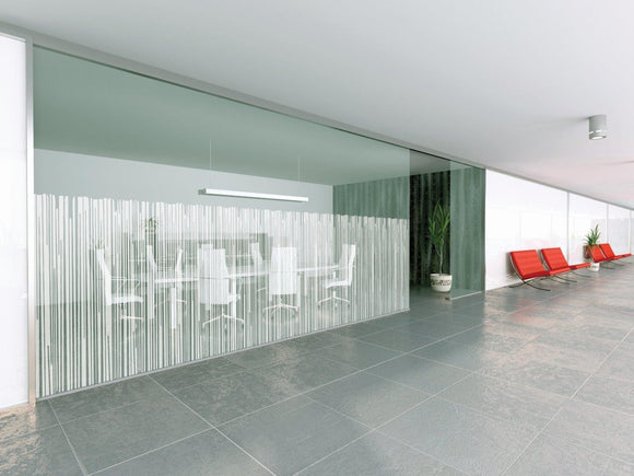 Bamboo Screen Style, White Designer Pattern Window Film
