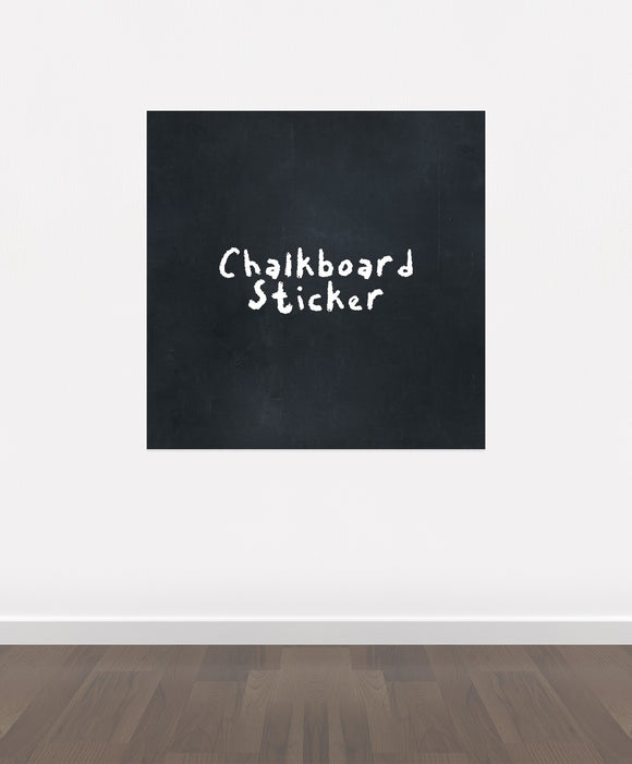 BB7 - Bespoke Sqaure chalkboard sticker, beautiful blackboard vinyl cut sticker, self adhesive easy install