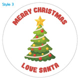 Personalised Custom Christmas Tree Christmas Sticker Label x30