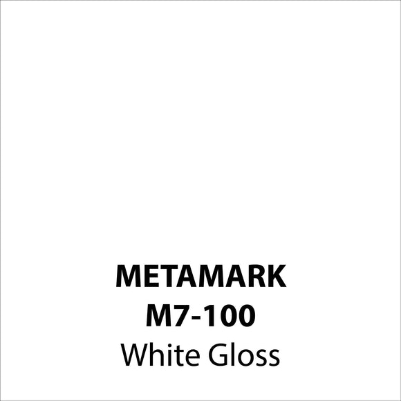 White Gloss Vinyl M7-100, Metamark 7 Series, self-adhesive, sticky back polymeric sign making vinyl
