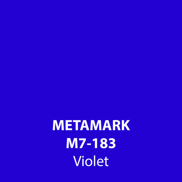 Violet Gloss Vinyl M7-183, Metamark 7 Series, self-adhesive, sticky back polymeric sign making vinyl