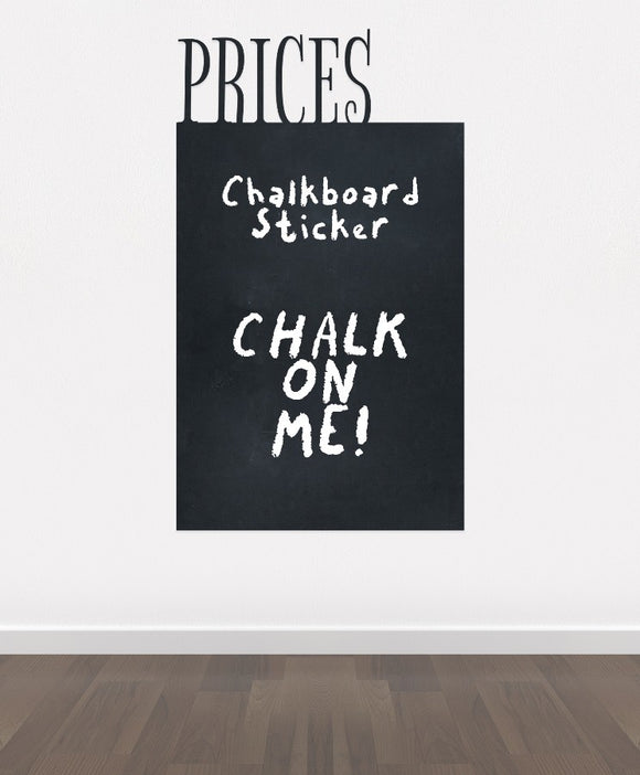 BK2 - Bespoke price chalkboard, blackboard vinyl cut out sticker, beautiful wall, self-adhesive easy install.