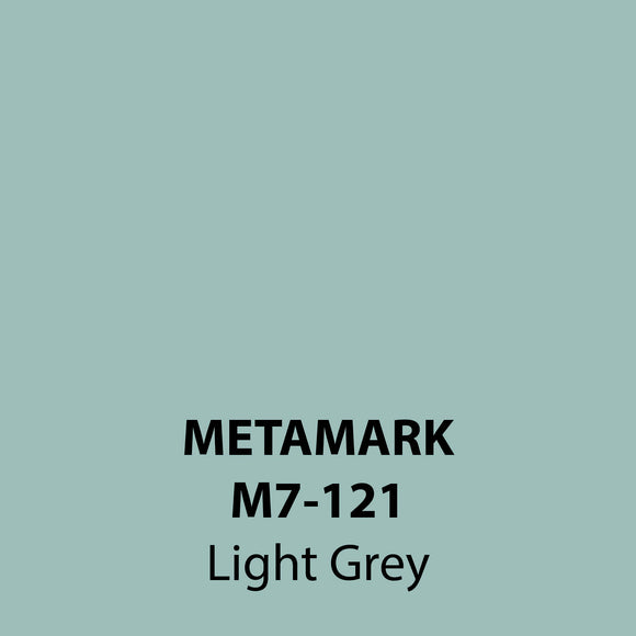 Light Grey Gloss Vinyl M7-121, Metamark 7 Series, self-adhesive, sticky back polymeric sign making vinyl