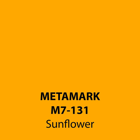 Sunflower Gloss Vinyl M7-131, Metamark 7 Series, self-adhesive, sticky back polymeric sign making vinyl