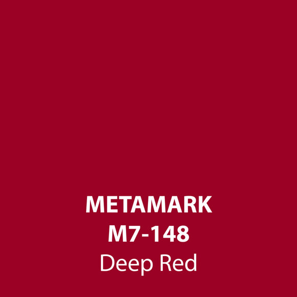 Deep Red Gloss Vinyl M7-148, Metamark 7 Series, self-adhesive, sticky back polymeric sign making vinyl