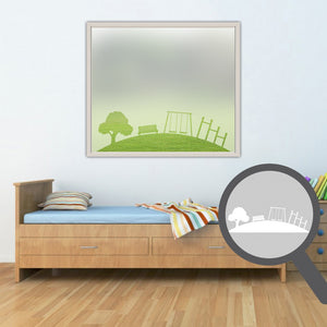 Park scene cut out, bespoke, custom, frosted childrens window film