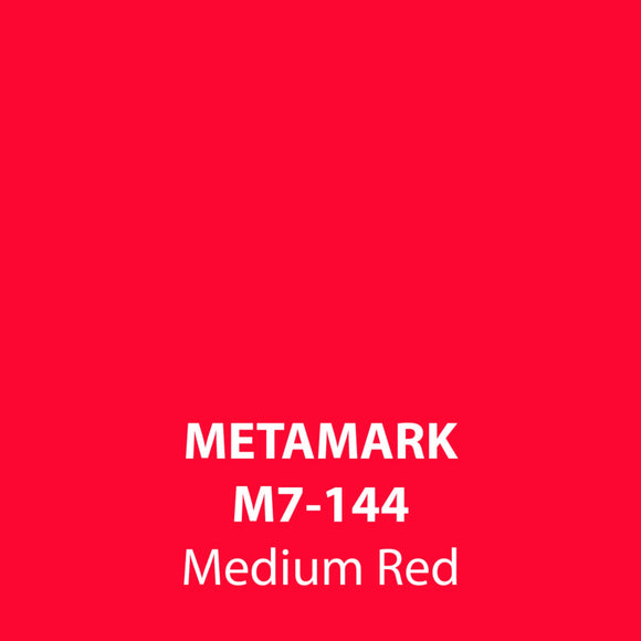 Medium Red Gloss Vinyl M7-144, Metamark 7 Series, self-adhesive, sticky back polymeric sign making vinyl