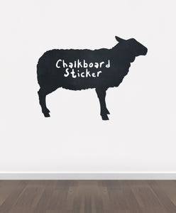 BB21 - Bespoke sheep chalkboard sticker, beautiful blackboard vinyl cut sticker, self adhesive easy install