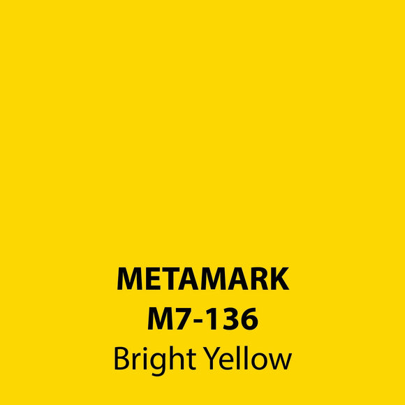 Bright Yellow Gloss Vinyl M7-136, Metamark 7 Series, self-adhesive, sticky back polymeric sign making vinyl