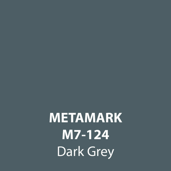 Dark Grey Gloss Vinyl M7-124, Metamark 7 Series, self-adhesive, sticky back polymeric sign making vinyl