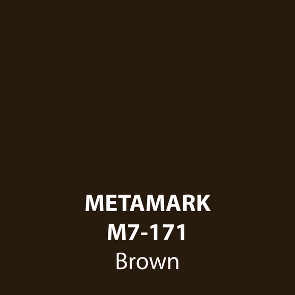 Brown Gloss Vinyl M7-171, Metamark 7 Series, self-adhesive, sticky back polymeric sign making vinyl