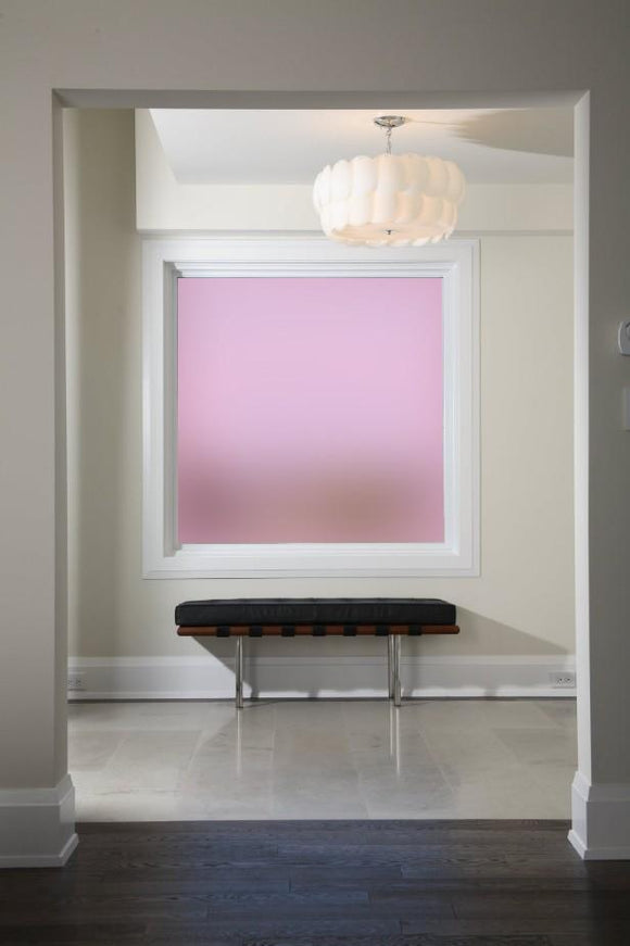 Plain Pink Frosted Window Film