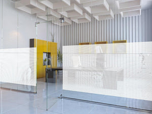 10mm Frosted horizontal Line, Decorative Patterned Window Film   50cm, 76cm, 100cm, 152cm