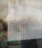 Frosted Maze Privacy Pattern Decorative Frost Window Film Glass Self Adhesive Vinyl