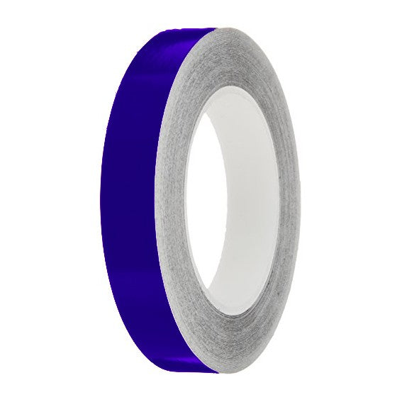 Bright Blue Gloss Colour Pin Stripe tapes, 50m roll, sticky self-adhesive, vinyl decal line tape