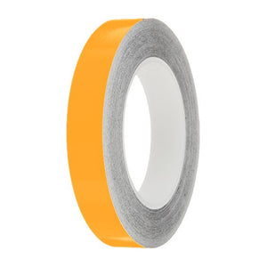 Medium Yellow Gloss Colour Pin Stripe tapes, 50m roll, sticky self-adhesive, vinyl decal line tape