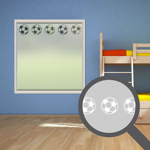 Repeating football cut out, bespoke, custom, frosted childrens window film